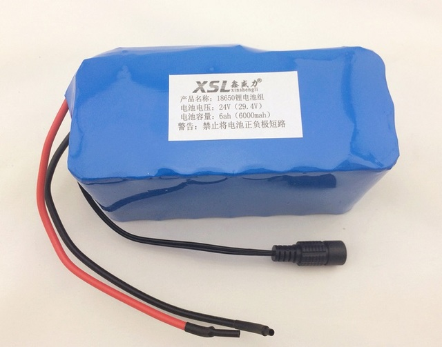 24 6Ah 7S3P 18650 Lithium Battery 29.4 V 6000 mAh electric bike moped / electric / lithium-ion battery + charger