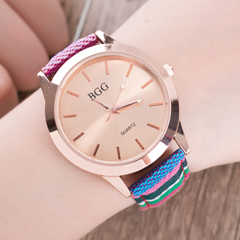 Fashion Brand Women Leather Strap Watch ladies Casual Quartz Watches Female Simple Dress Wristwatches Gold Dial casual Relogio new fashion brand gold geneva casual quartz watch women crystal silicone watches relogio feminino dress ladies wristwatches hot