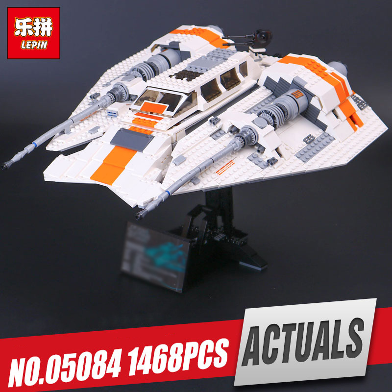 Lepin 05084 1468Pcs Star Series The Snowspeeder Set Children Educational Building Blocks Bricks War Toy Model 10129 for gifts star space war series the rebel snowspeeder set educational building blocks bricks boy toys model gifts compatible lepins 10129