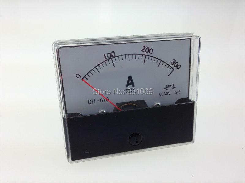 Аналоговый амперметр DH670, амперметр постоянного тока 0-300 А, 300 А, 1 шт.