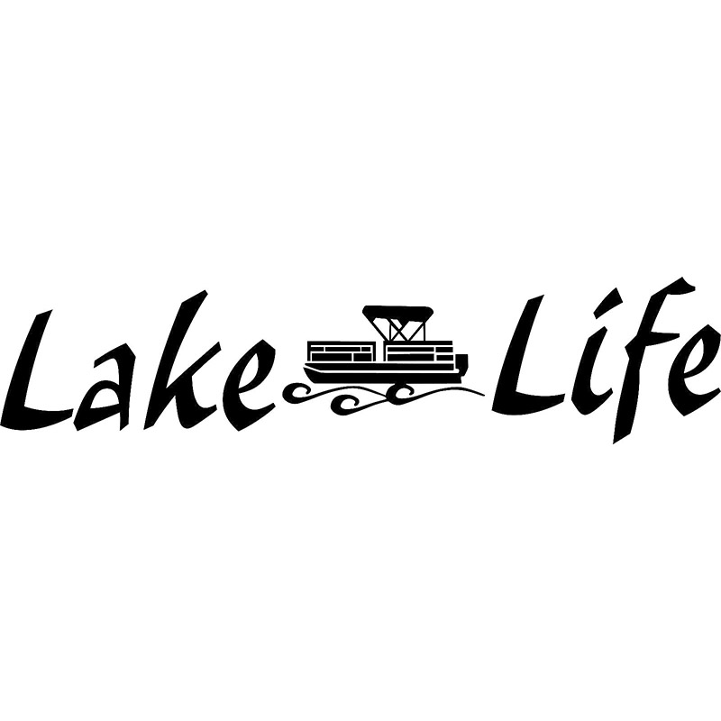 Car stying Lake Life Pontoon Window Wall Decal Watercraft Boat Trailer Raft Fishing Home Rear windshield stickers Jdm