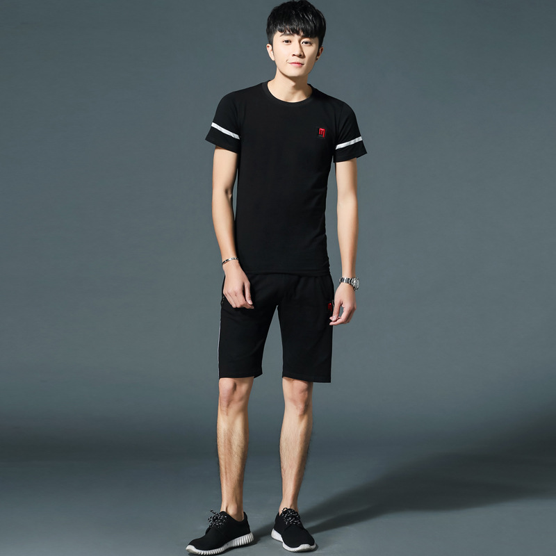 NAD2 Ready stock 2019 Summer Running Simple Sportswear shirt and pants for man 2 pcs