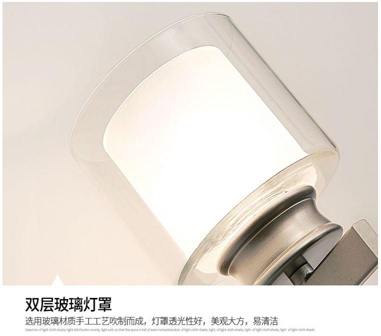 HTB1TKZnDkCWBuNjy0Faq6xUlXXa7 - Bedroom bedside wall lamp modern minimalist living room study LED TV wall lamp glass lampshade aisle lamp atmosphere