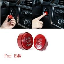 Кнопка запуска двигателя автомобиля остановить вставить кнопочный переключатель зажигания кольцо для BMW F20 F21 F30 F31 F10 F11 F01 F48 f25 F15 F16 стайлинга автомобилей