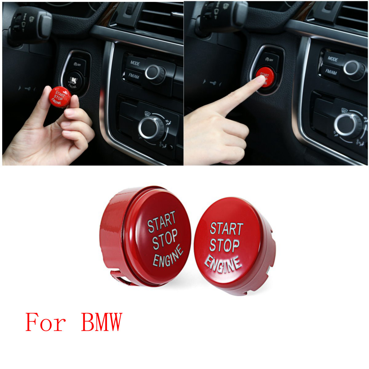 Car Engine Start Button Stop Paste Push Switch Ignition Ring For BMW F20 F21 F30 F31 F10 F11 F01 F48 F25 F15 F16 Car Styling