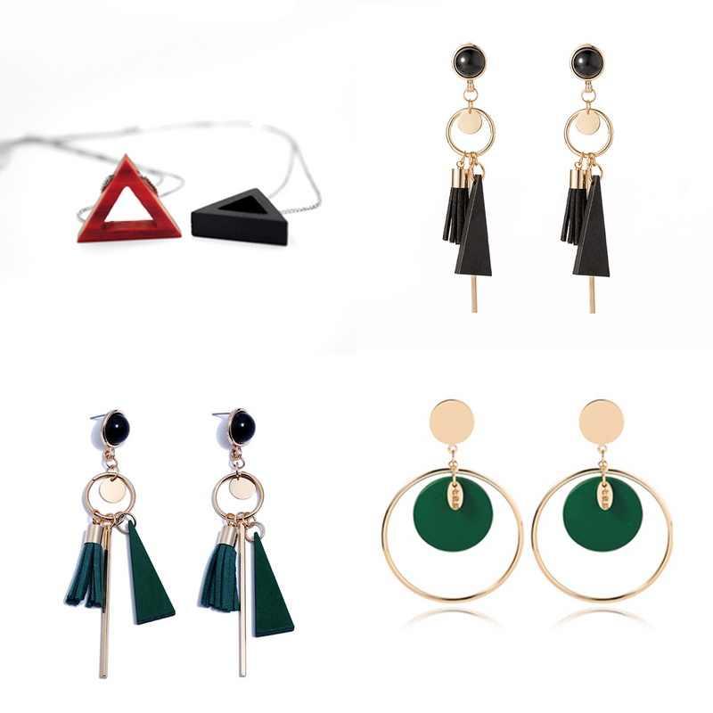 New Fashion Manik-manik Kayu Liontin Multple Bentuk Kalung & Liontin Warna Merah untuk Membuat Beludru Rumbai Perhiasan Temuan