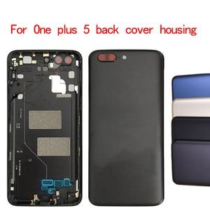Image 1 - Batterie Zurück Abdeckung Ersatz Für Oneplus 5 A5000 Gehäuse Fall + Power Volumen Knöpfe für ein plus 5 batterie abdeckung 1 stücke
