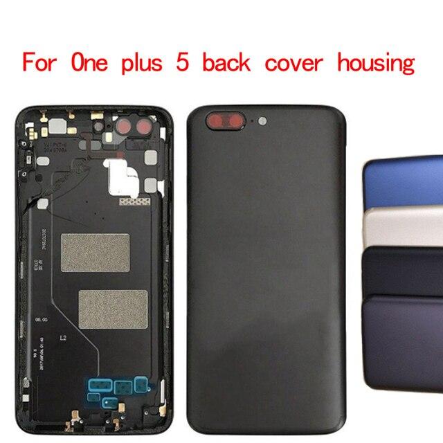 Batterie Zurück Abdeckung Ersatz Für Oneplus 5 A5000 Gehäuse Fall + Power Volumen Knöpfe für ein plus 5 batterie abdeckung 1 stücke