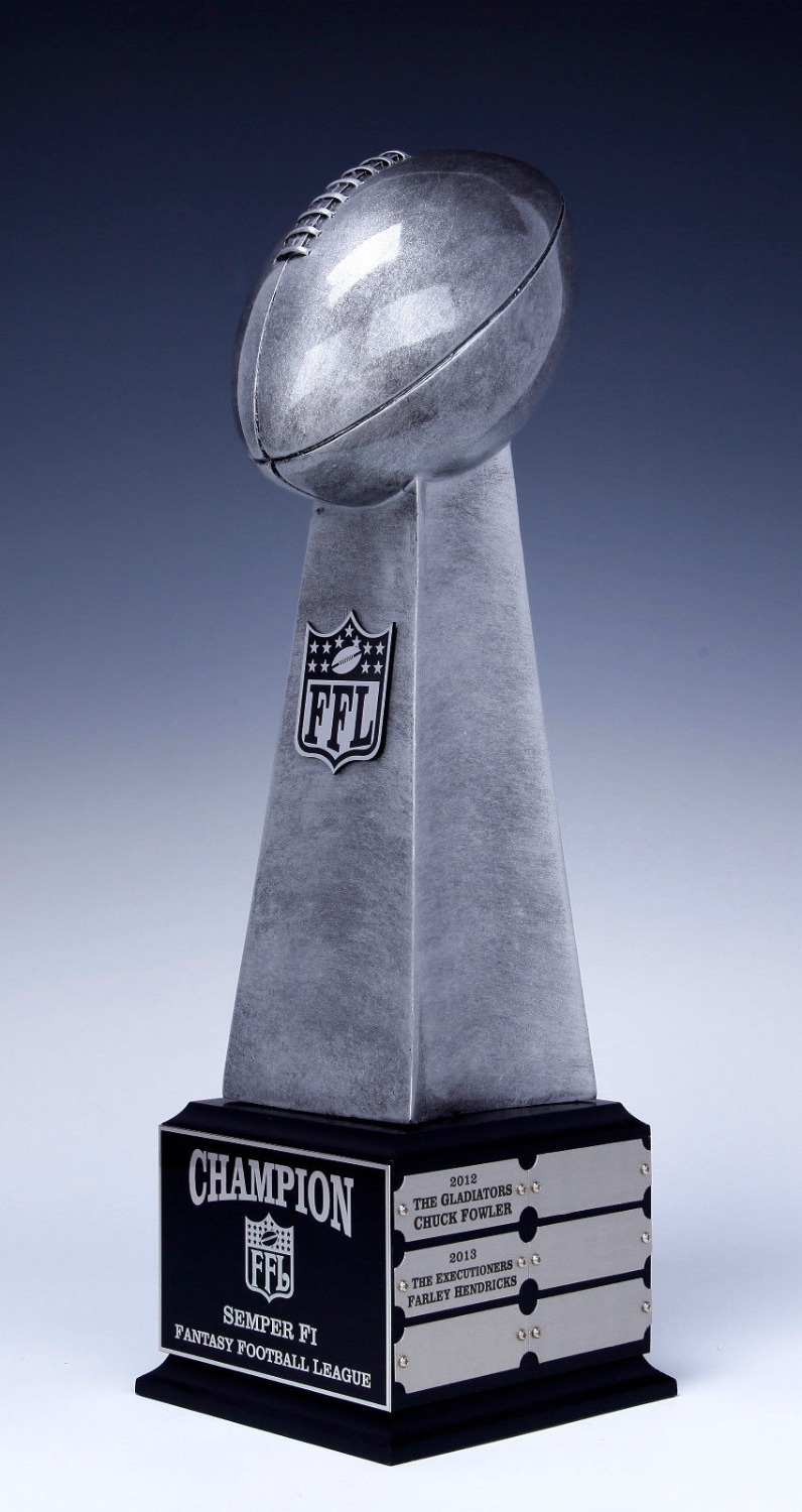 Fantasy Football Lombari Trophy Replica on Base 12 YEAR Award 19 Inches - FREE SHIPPING and ENGRAVING trophy