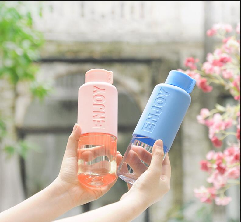 Creative Travel Outdoor Water Bottles Portable Dog Cat: Plastic Sports Water Bottle With Leak Proof Creative