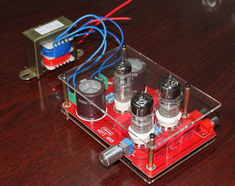 Pre amp Tube font b Amplifier b font Headphone Kit 6N3 with Rectifier Board Transformer for