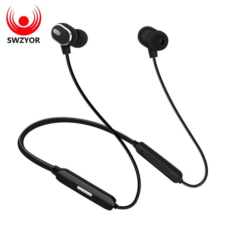 SWZYOR LY163 cuello auricular Bluetooth auriculares inalámbricos para Xiaomi iPhone auriculares estéreo auriculares Fone de Ouvido con micrófono