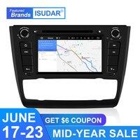 Isudar 1 Din Автомобильный мультимедийный плеер Android 9 для BMW E81/E82/E88 1 серия автоматическое радио GPS Canbus DSP OBD2 USB DVR dvd плеер FM