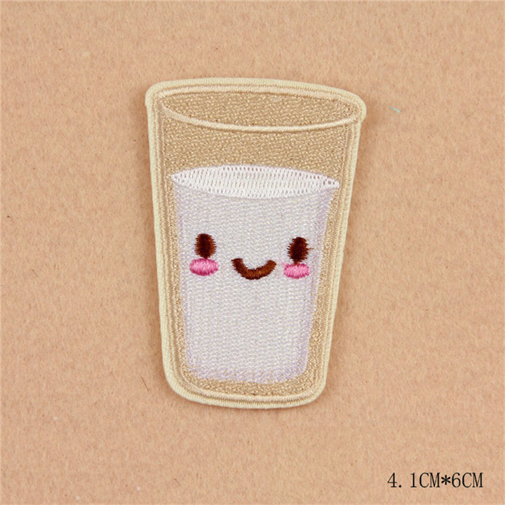 7 8pcs Iron On Food Embroidery Patches For Clothing Bag Shirt Phone Shell Patch Badges Stickers Custom Cute Patches Applique TB004