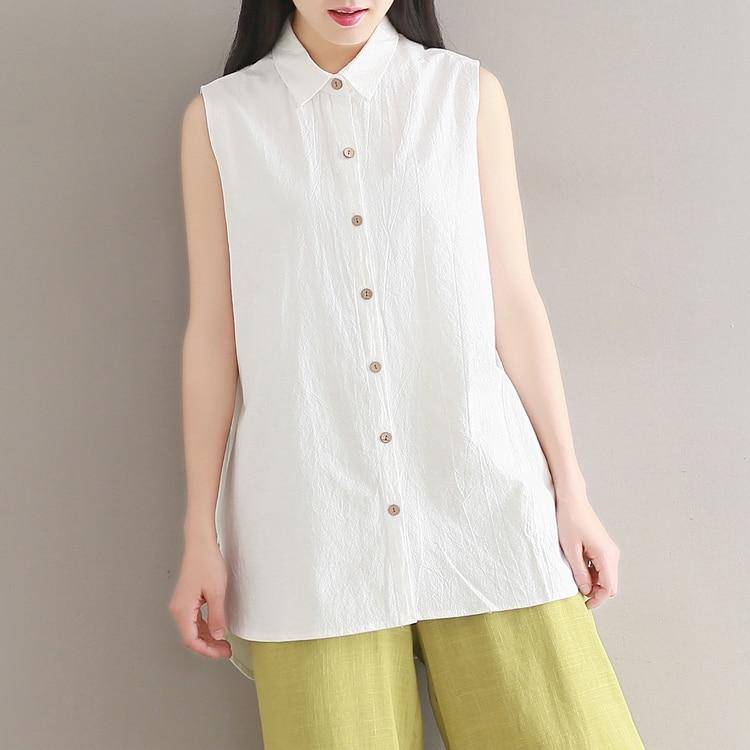 ef4c6a68357 2017-t-Coton-Et-Lin-Chemises-Sans-Manches-Chemise-blanche-Femmes-L-che-Tops -Preppy-Style.jpg