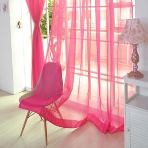 Image 2 - Farben Tüll Transluzenten Vorhang Tür Fenster Vorhang Waschbar Drapieren Panel Sheer Schal Schabracken Hause Dekoration Vorhänge