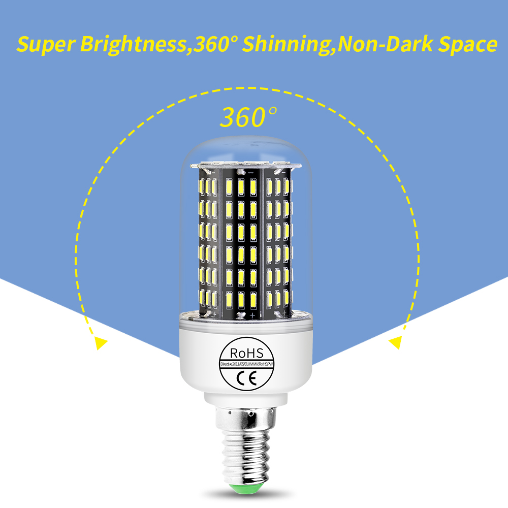 LED Corn Bulb E27 220V Led Lamp 4014 SMD Lampada E14 LED Light Bulb 3W 5W 7W 9W 12W Energy saving Bombillas 38 55 78 88 140LEDs in LED Bulbs Tubes from Lights Lighting