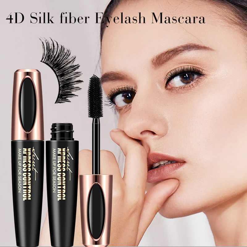 Manooby 4D Тушь для ресниц жидкая черная Толстая длина неглазные ресницы инструмент для макияжа Водостойкая тушь для ресниц
