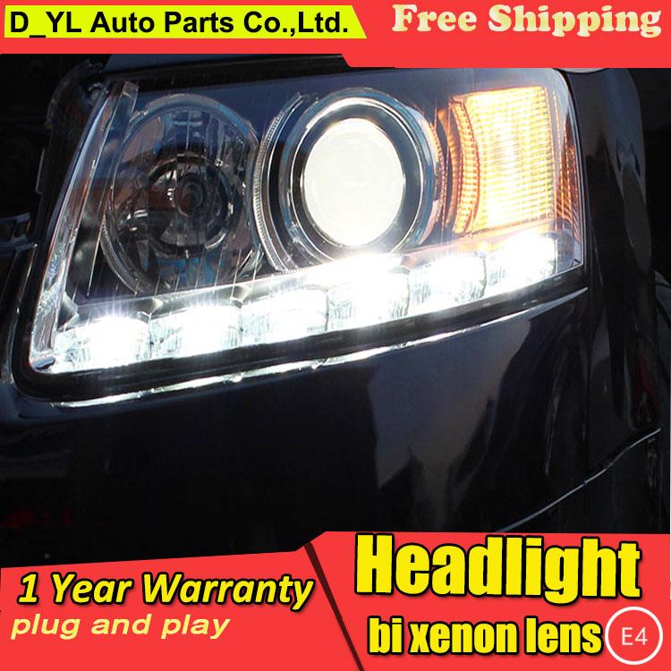 D YL Car Styling for Audi A6L Headlights 2005 2012 A6L LED Headlight DRL Lens Double