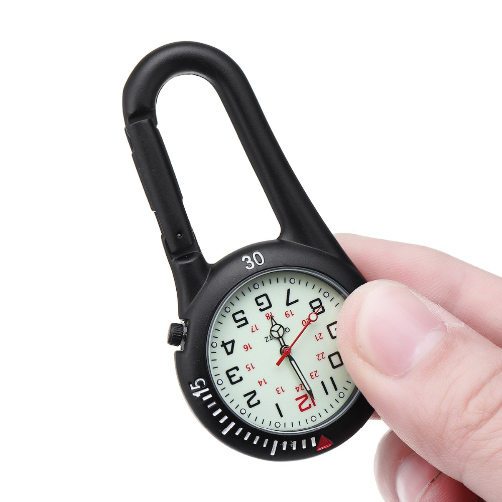 Portable Outdoor Sport Pocketed Watch Men Women Mini Round Dial Arabic Numbers Nurses Quartz Analog Clip Carabiner Hook WatchPortable Outdoor Sport Pocketed Watch Men Women Mini Round Dial Arabic Numbers Nurses Quartz Analog Clip Carabiner Hook Watch