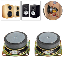 2pcs 53mm 2 inch 4Ohm 3W Full Range Audio Speaker Stereo Woofer Loudspeaker - L060 New hot