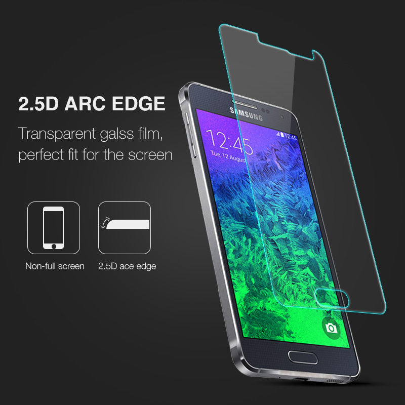 Image 2 - 0.26mm Screen Protector Explosion Proof On Phone 2.5D Tempered Glass Film For Samsung GALAXY Alpha G850 G850F G8508 G8508S G8509-in Phone Screen Protectors from Cellphones & Telecommunications