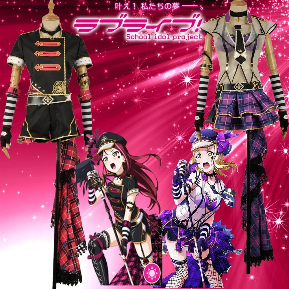 LoveLive Aqours Punk Rock Awakening Mari Ohara Uniform Dress Cosplay Costume