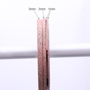 Image 5 - 4 Pcs Nail Striping Tape Lines Set Rose Gold Matte Glitter 1mm 2mm 3mm Adhesive Stickers Nail Art DIY Styling Tool