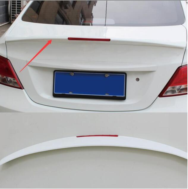 lane legend case for Hyundai Verna 2010-2016 rear trunk spoiler wing aero decorative coveraccessories car styling accessories yandex w205 amg style carbon fiber rear spoiler for benz w205 c200 c250 c300 c350 4door 2015 2016 2017