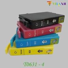T0631 Ink cartridge For Epson T0631 - T0634 Stylus C67 C87 C87PE CX4100 CX4700 CX3700 Printer T0631 T0632 T0633 T0634 orignal new printhead print head for epson cx3500 cx4700 cx5900 cx8300 cx9300 cx4100 cx4200 cx4600 cx4800 cx4850 cx7000 cx5800