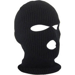 Full Cover Three 3 Hole Winter Cap Black Warm Face Masks