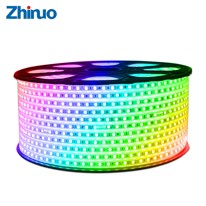 High Quality LED Strip SMD5050 Waterproof Type RGB 60Leds/m AC220V Flexible Light +Remote Control Party Decoration Light Home