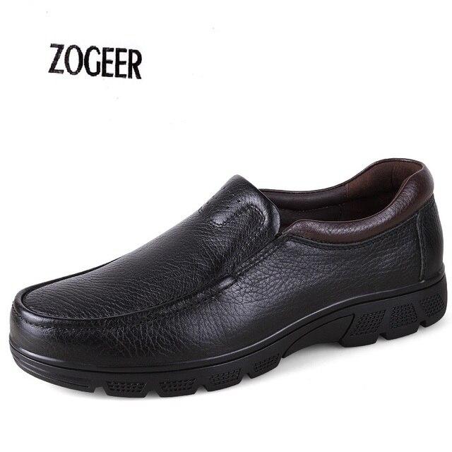 Mens Caliente Del Invierno de Cuero Genuino Botas Los Hombres Zapatos de Plataforma Mocasines Hechos A Mano Masculina de Piel Engrosada Dentro Botines Botas de Nieve Eu38-47
