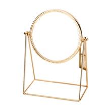 Metal Decorative Mirror Lady Desktop Makeup Crafts Three-Dimensional Princess Home Decor Accessories