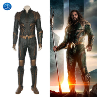 MANLUYUNXIAO High Quality Justice League Aquaman Cosplay Costume New Aquaman Costume Men Aquaman Suit In Leather Custom Made