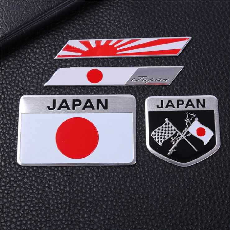 Japan Flags Bagde Japanese National Emblem NIHON Motors Car Stickers Decals For Yamato Auto Doors Trunks Decorating Accessoires