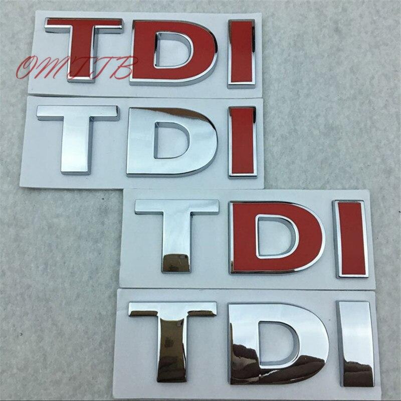Car styling TDI Badge Emblem Decal car Sticker for VW Golf JETTA PASSAT MK4 MK5 MK6 skoda seat car accessories car-styling
