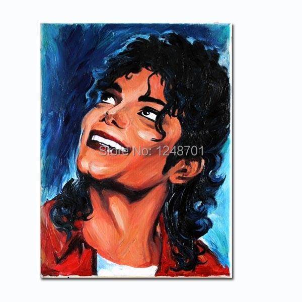 Moderní umění Figurativní Michael Art Jackson Olejomalba na plátně Nástěnná malba Obrázek pro obývací pokoj Domácí výzdoba 100% ručně malované