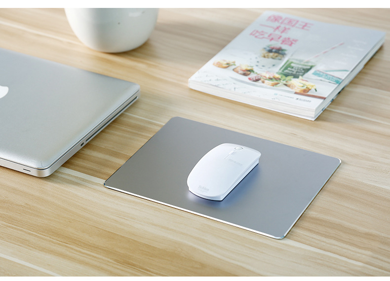 large-size-Aluminum-alloy-hard-mouse-pad-gray