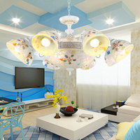 Ceiling Lamp Simple European Mediterranean chandeliers Pastoral Village Living Room Restaurant Of Classical E27 chandelier