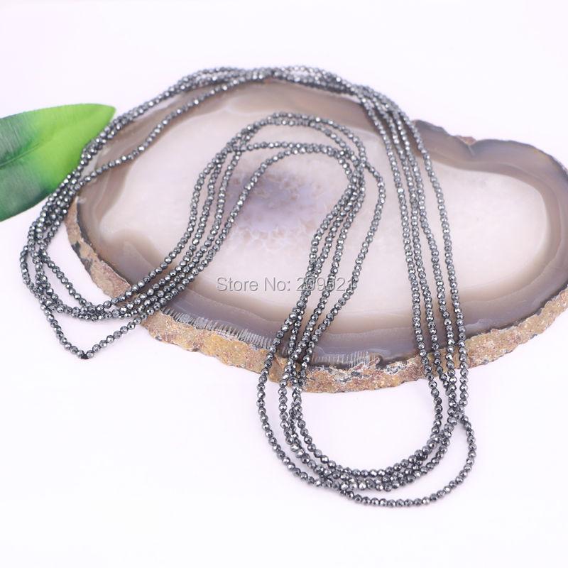 DIY 10Pcs Cadenas de hematita negras artesanía Collar de encanto - Bisutería