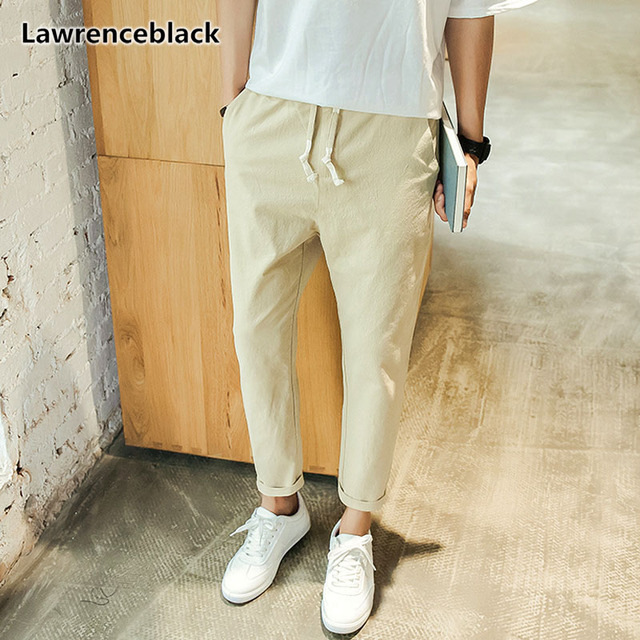 Lawrenceblack Men S Linen Pants 2018 High Quality Ankle Length Linen