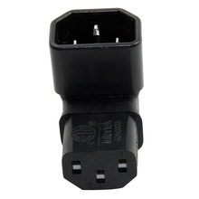 IEC Male C14 to Up Right Angled 90 Degree IEC Female C13 Power Extension Adapter цена