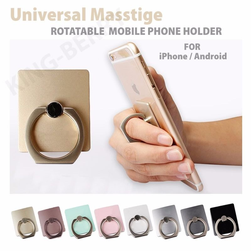 Portable 360 Degree Metal mobile phone ring stent Finger Stand for Apple iphone samsung HTC Nokia Huawei MP4 Ebook car holder