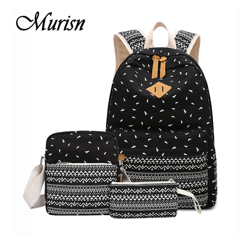 все цены на Canvas Backpack School Backpacks For Teen Girls Fashion Printing Backpacks Female School Bags For Teenage Women Mochila Feminina