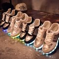 Quality 7 Colors Woman LED Shoes 2016 Autumn Winter High Top Growing Shoes For adults Women Luminous Lights Shoe