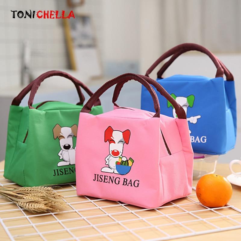 Baby Feeding Lunch Food Thermal Bags Insulated Cute Cartoon Dog Infant Breast Milk Warmer Handbag Outdoor Travel Bag CL5427