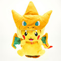 25cm Pokemon Cosplay Cloak Charizard Fire Dragon Flying Dragon Mega Cartoon Video Movies Stuffed Animals Plush Toys Anime Gift