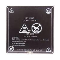 HE3D MK3 12V Heatbed 220 220 3mm Aluminium Plate Heated Bed 3mm PCB Hot Bed 3D