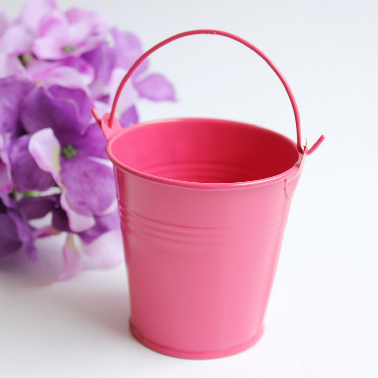 20 rose red baby shower candy boxes for wedding colored for Small pail buckets